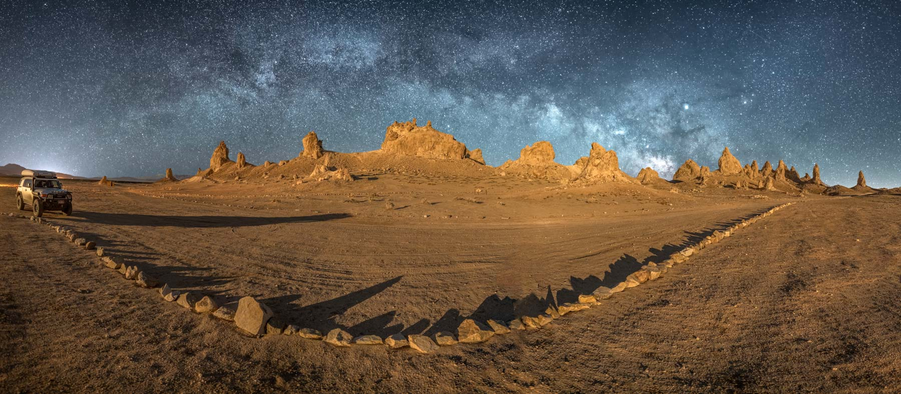 The Milky Way over the Trona Pinnacles