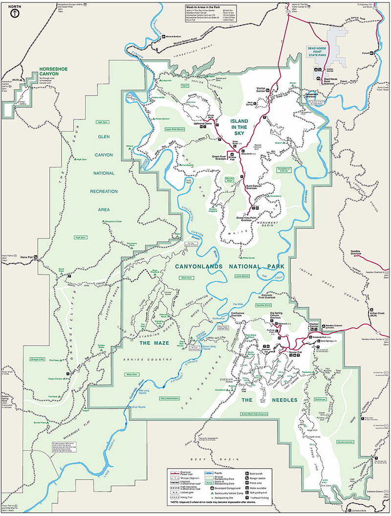 Canyonlands Park Service Map