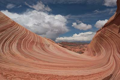 The view north from The Wave in Coyote Buttes North