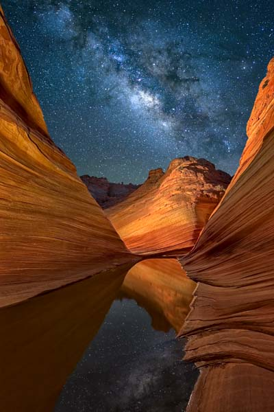 The Milky Way over The Wave in Coyote Buttes North