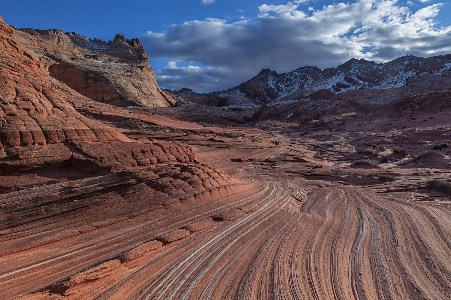 The view south from Sand Cove in Coyote Buttes North, Arizona