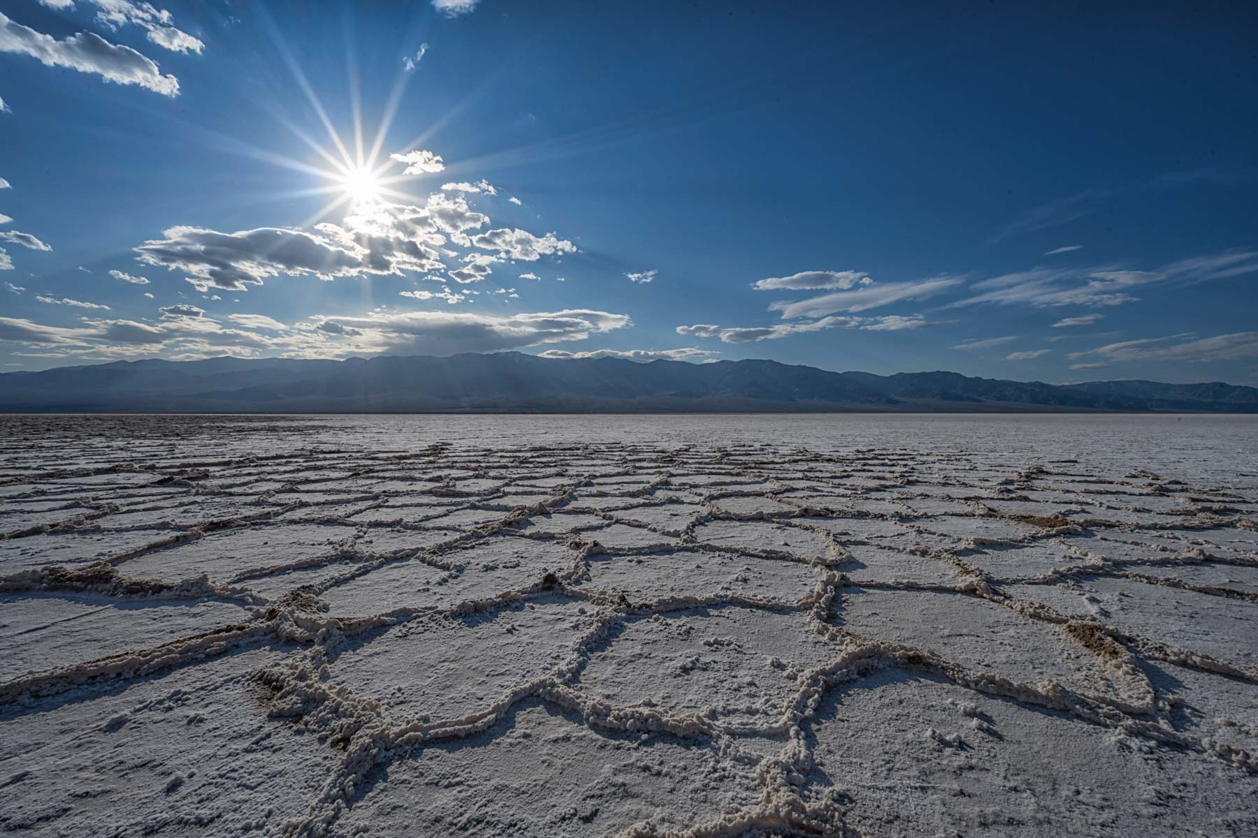 Badwater Salt Flats in Death Valley National Park, California
