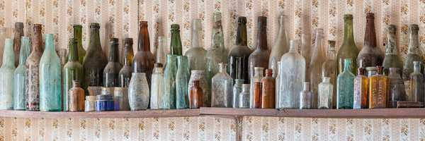 Bottles in the Cerro Gordo Museum