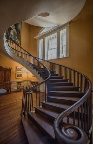 Nathaniel Russell House spiral staircase
