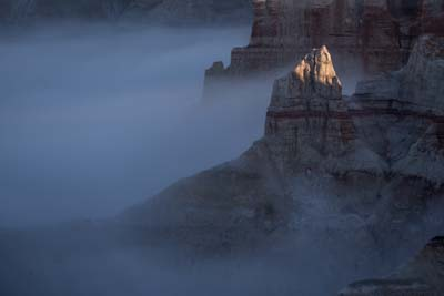 Coal Mine Canyon in Fog