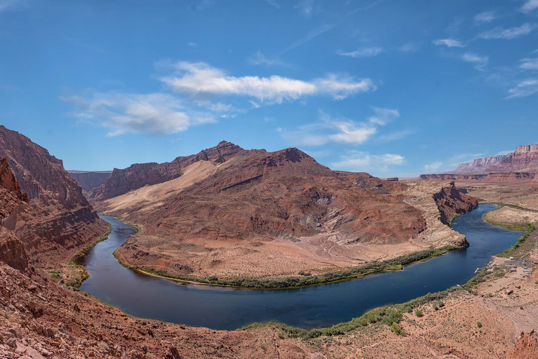 Bend in the Colorado River at Lees Ferry, Arizona