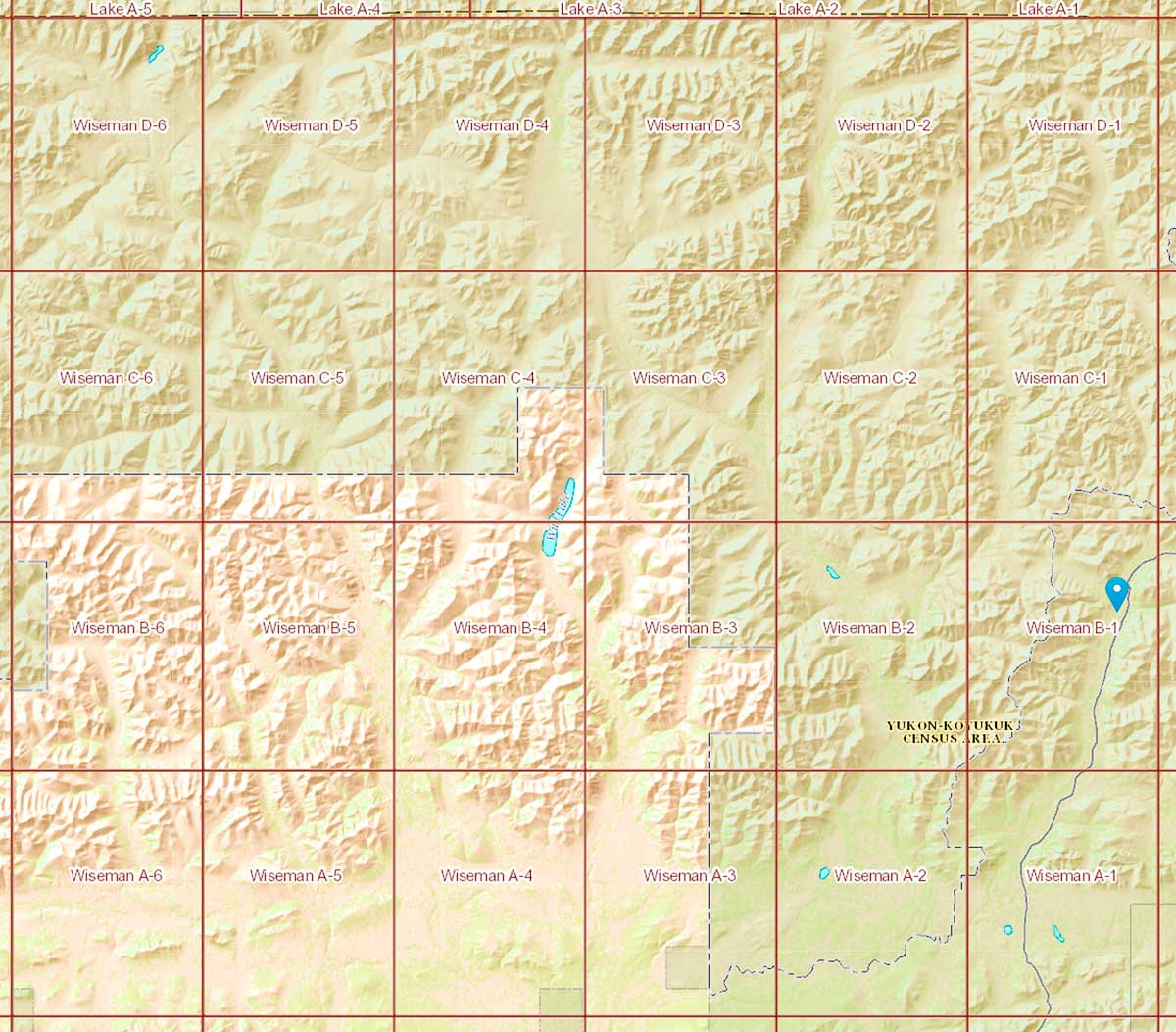Minute Topo Maps Of Northern Alaska - Usgs topo maps alaska