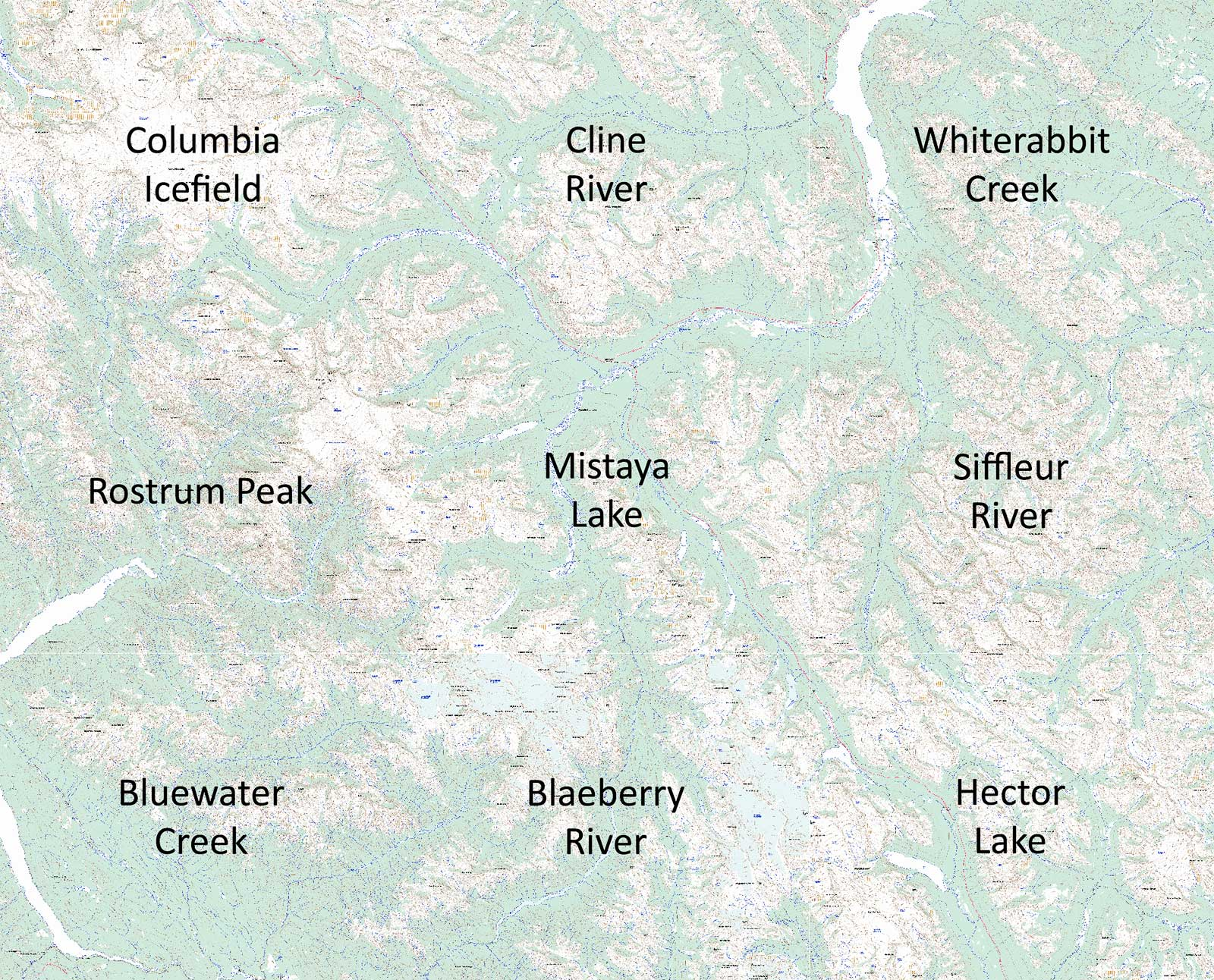 Icefields Parkway Topo Maps