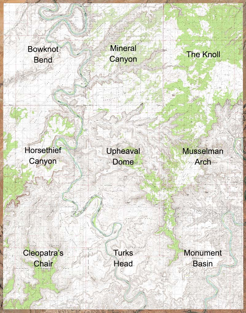 Canyonlands National Park - Us topographic map kmz