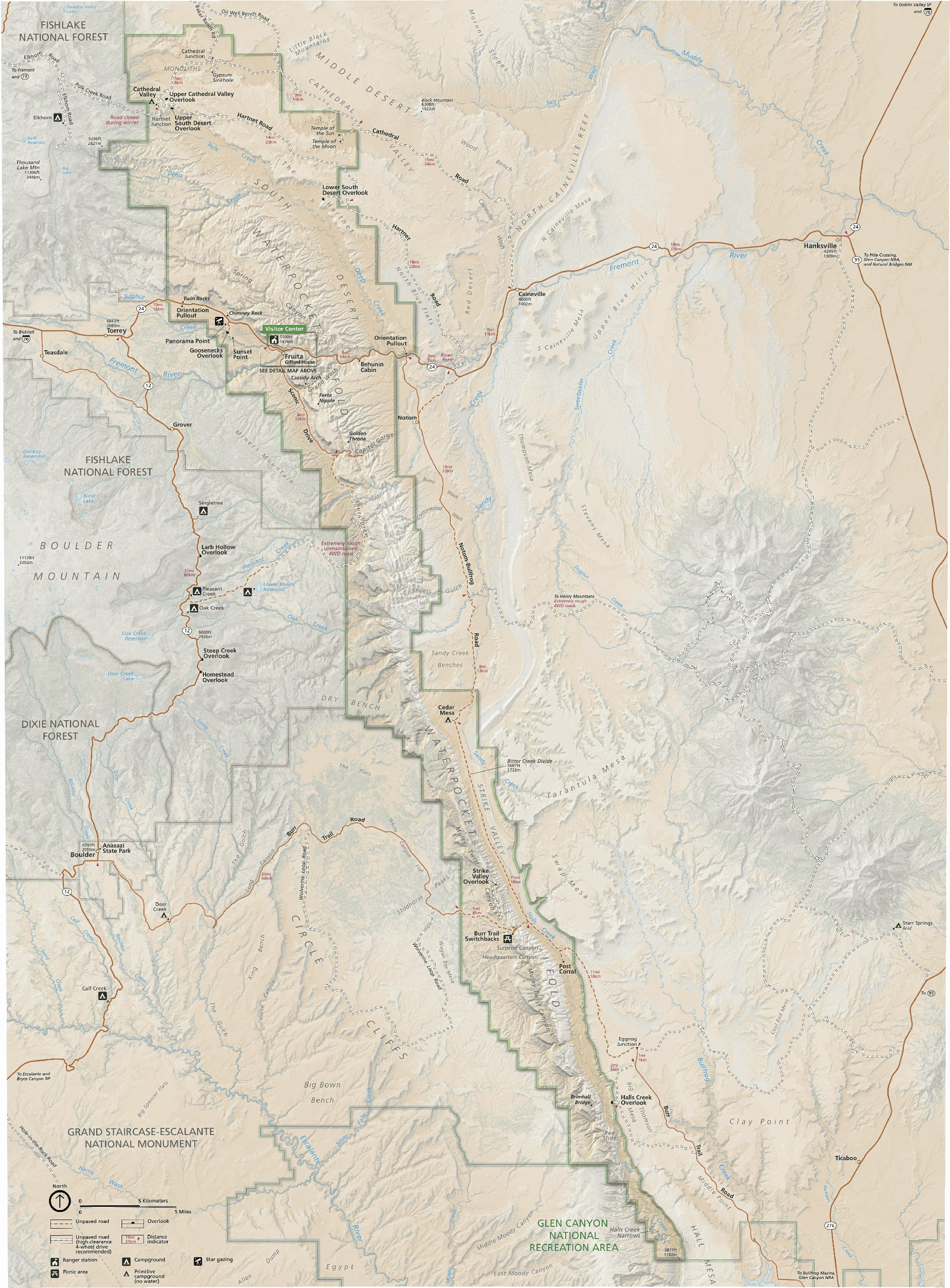 Capitol Reef National Park and vicinity