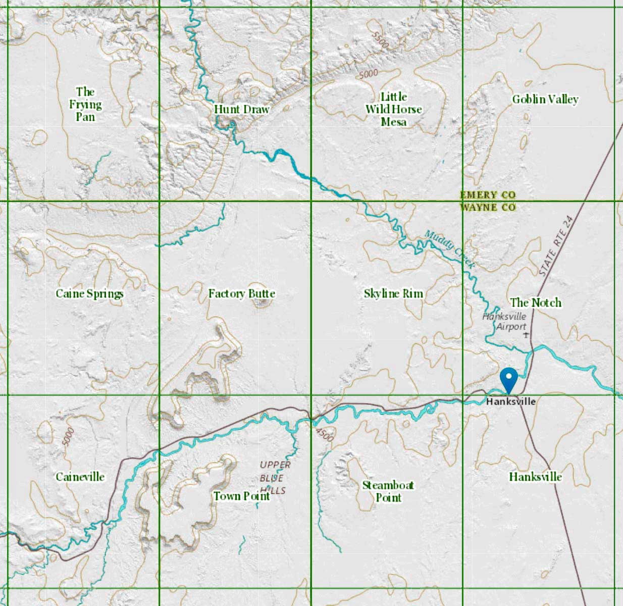 Factory Butte Index Map
