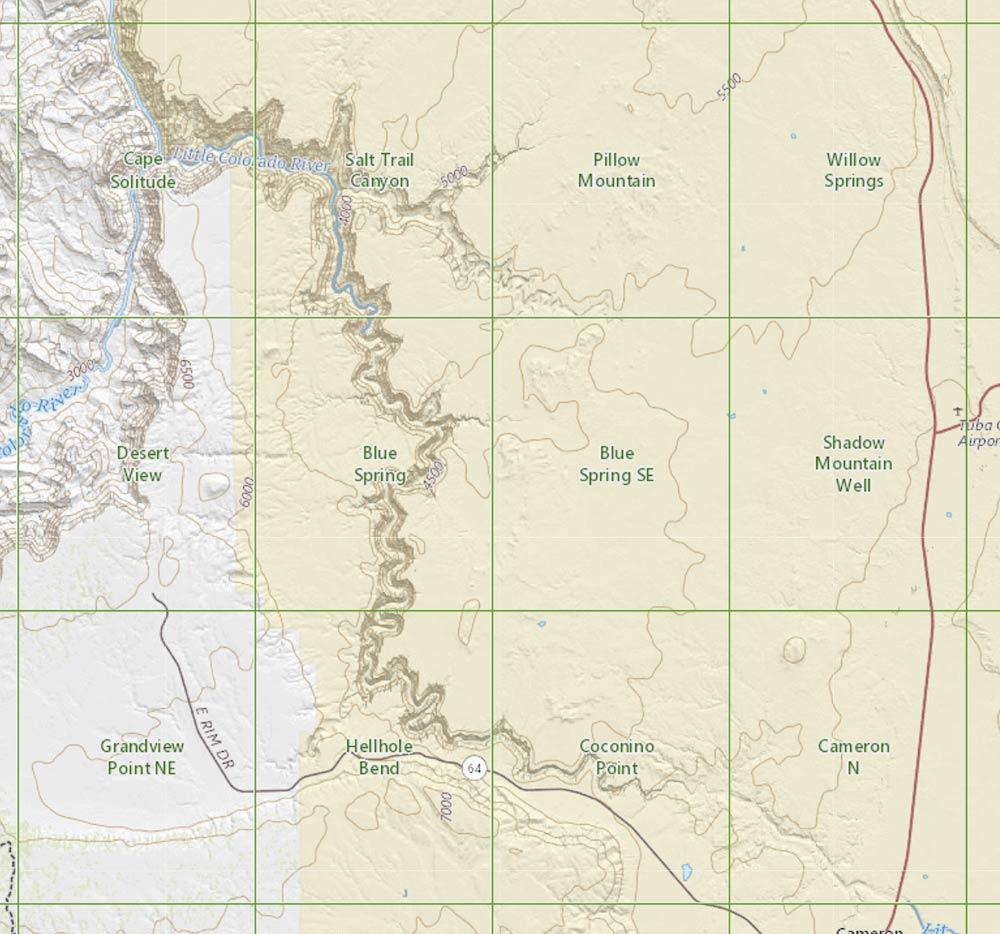 Se Colorado Map.Five Bends Of The Little Colorado