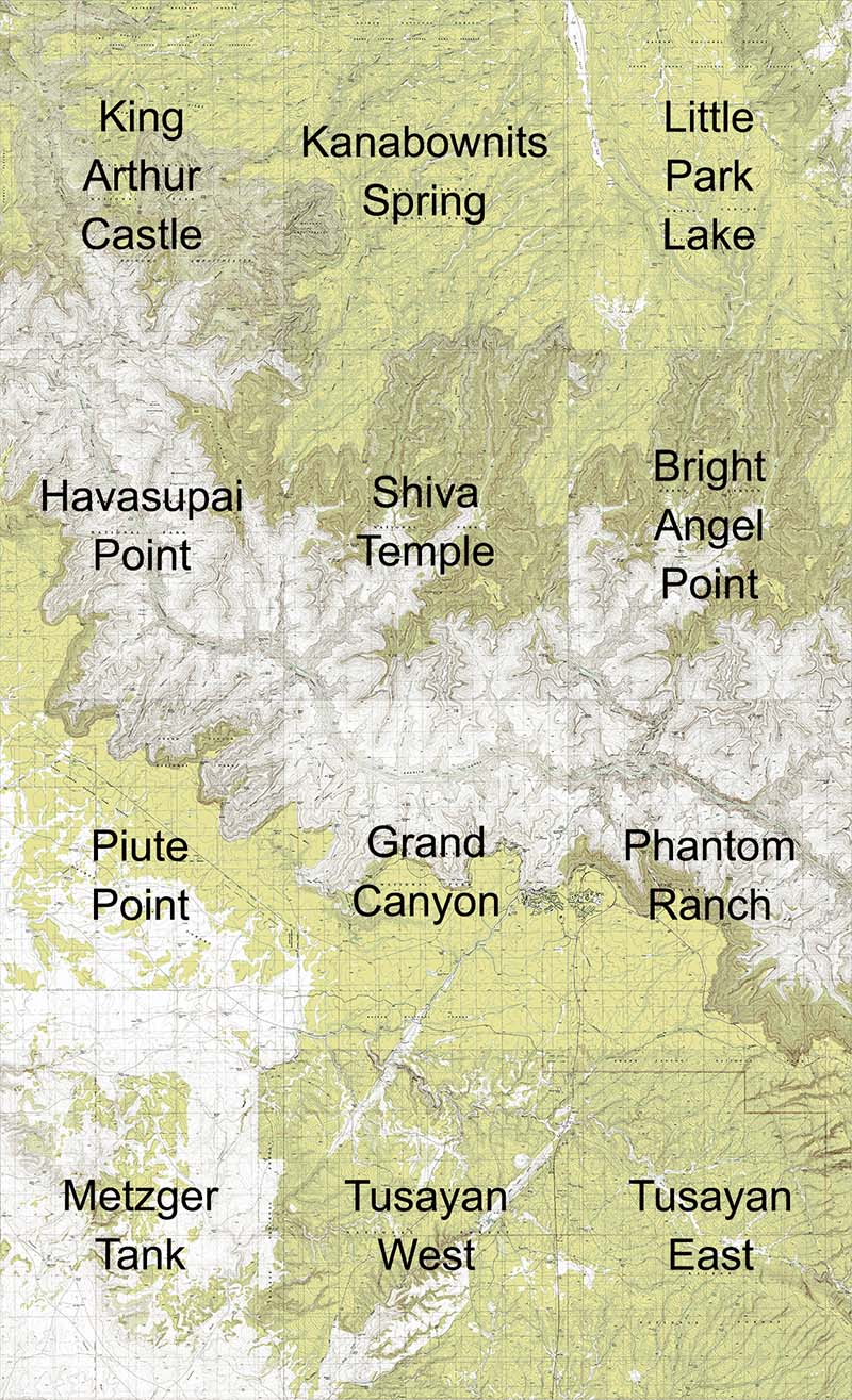 Grand Canyon Central Topo Maps