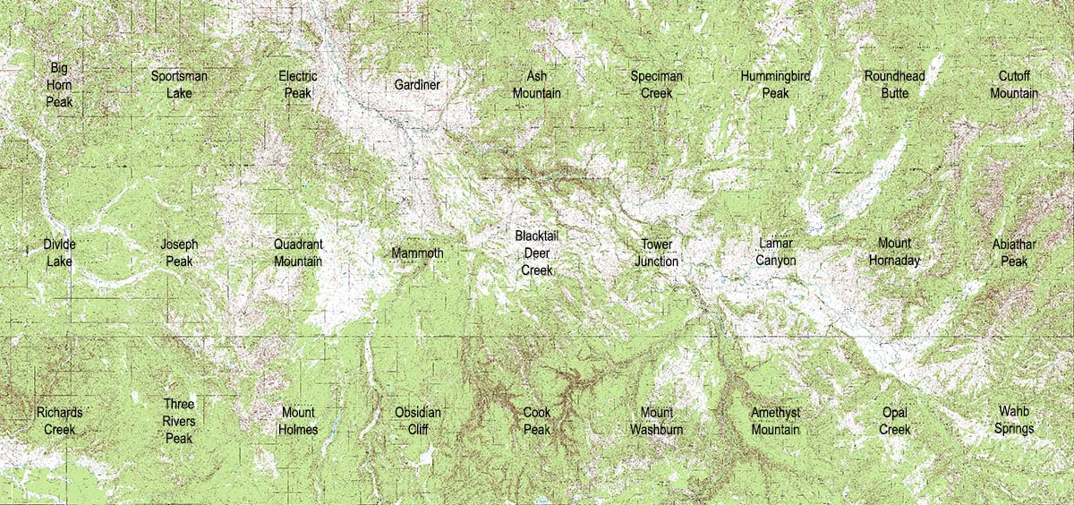 Yellowstone National Park - Yellowstone map