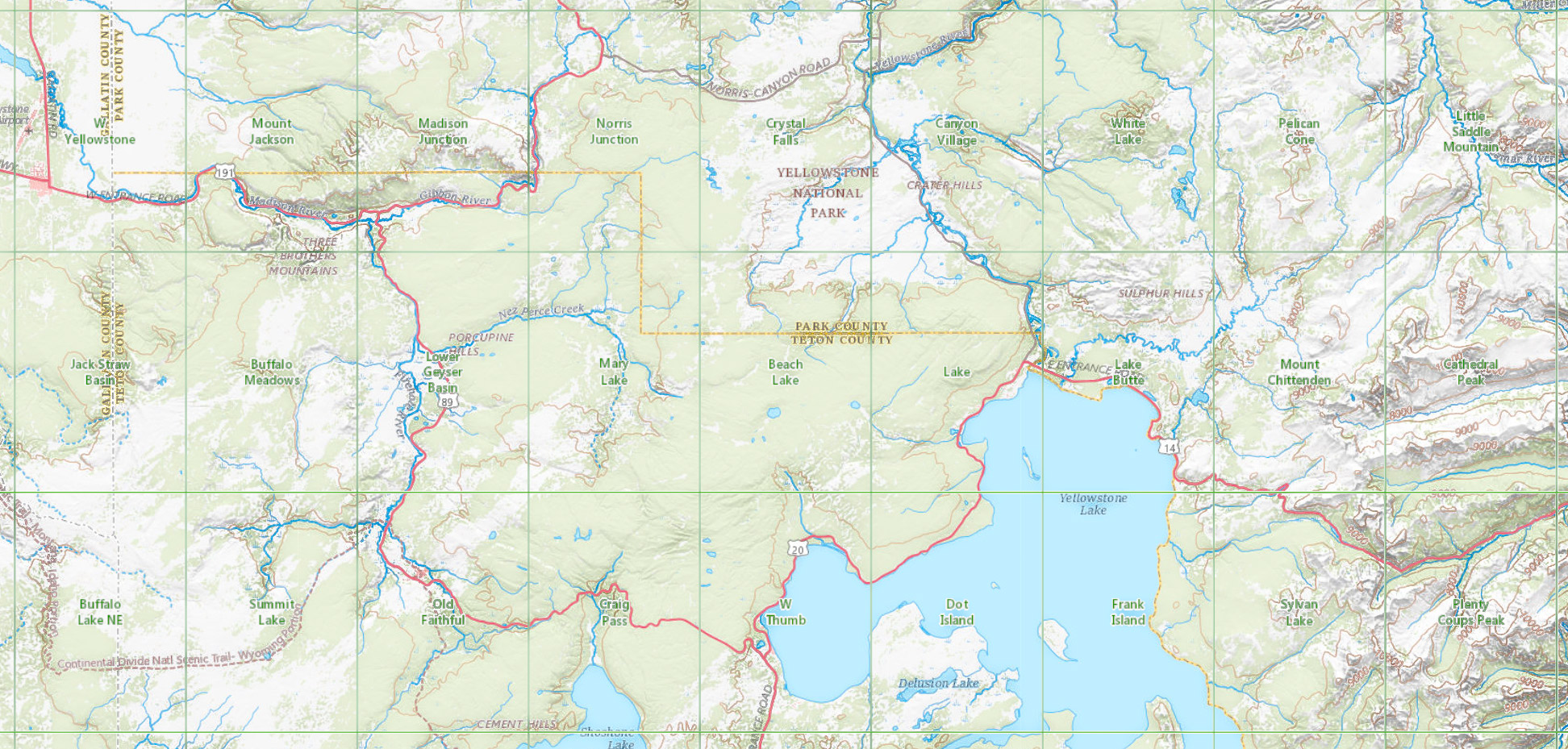 Yellowstone National Park Maps and Directions